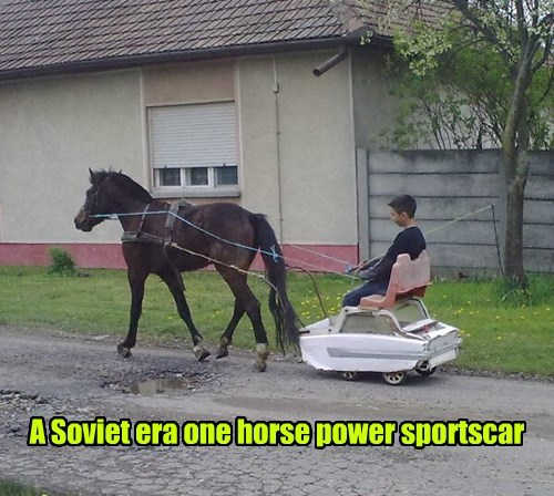 A Soviet era one horse power sportscar