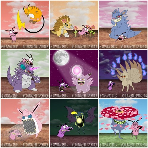 Courage the Cowardly Dog Meets More Pokémon