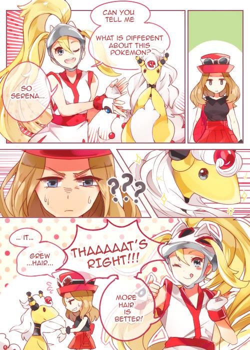 hair Pokémon serena mega ampharos - 8393692672