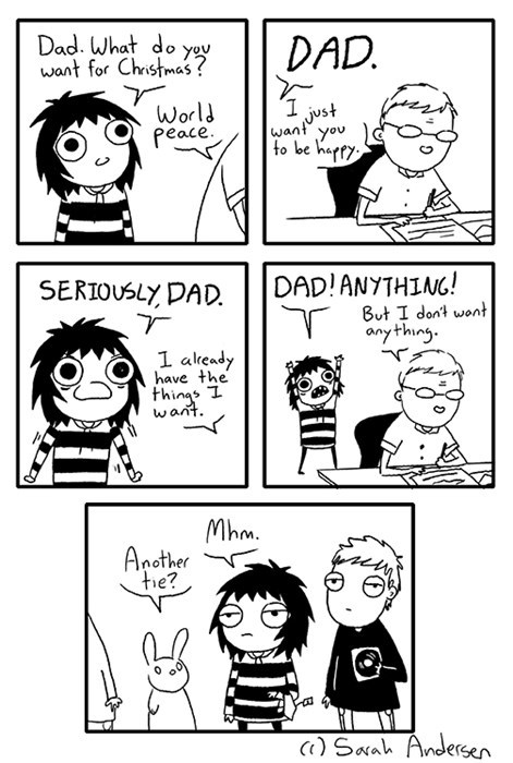 christmas tie present gift parenting dad web comics
