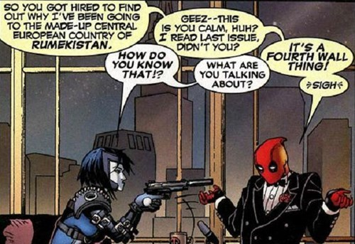 deadpool 4th wall Straight off the Page - 8393922048