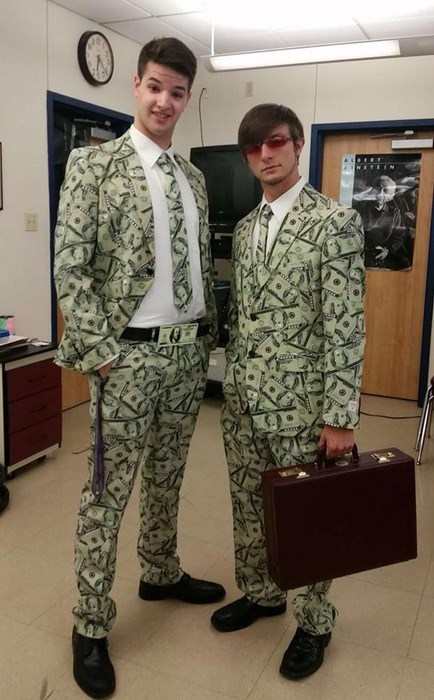 cash money poorly dressed suit - 8394014976