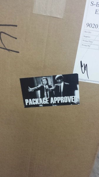 label,monday thru friday,package,pulp fiction