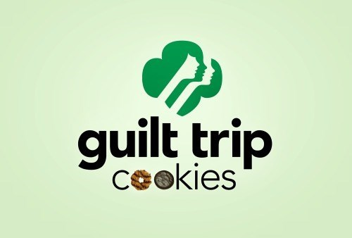 girl scout cookies,guilt trip,honest slogans