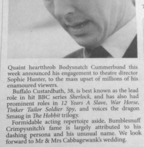 benedict cumberbatch typo newspaper fail nation g rated - 8394150912