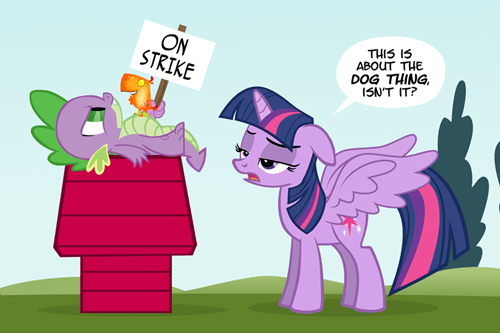 peanuts,strike,twilight sparkle,spike