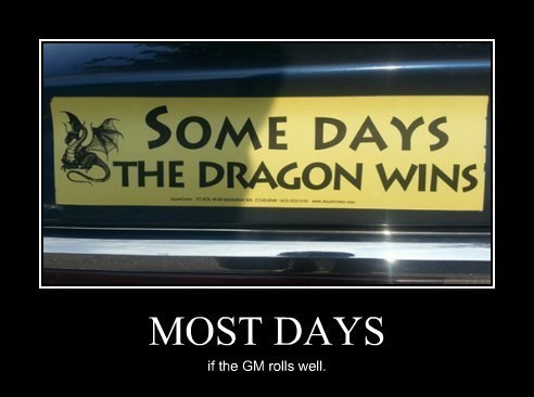 dragon bumper sticker funny