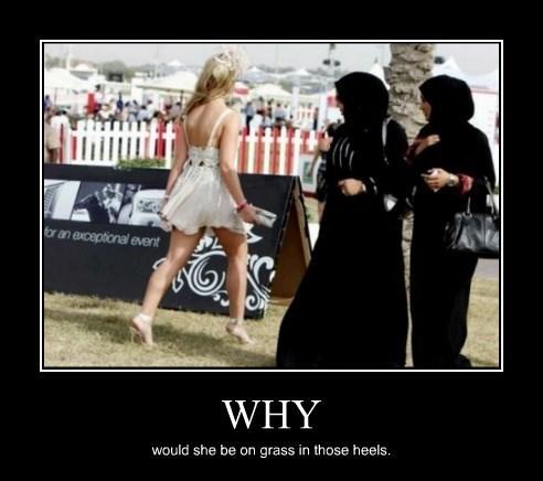 Sexy Ladies wtf heels funny - 8394348032