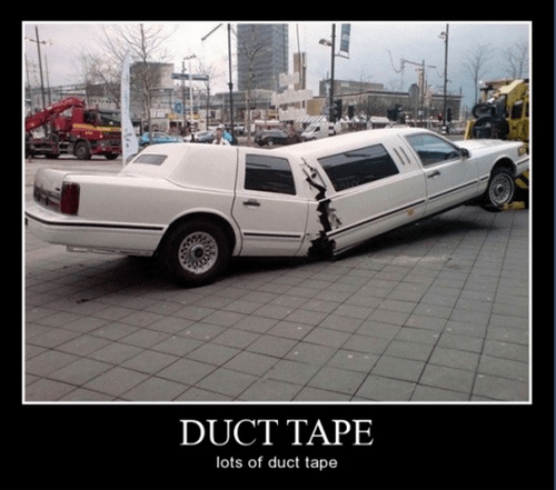 limo wtf duct tape funny - 8394349056