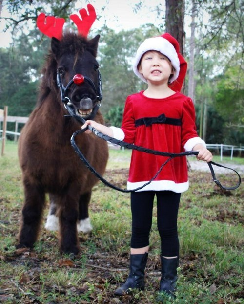christmas reindeer kids pony parenting rudolph - 8394656000