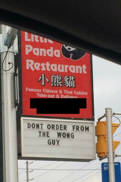monday thru friday,sign,chinese food,restaurant,g rated