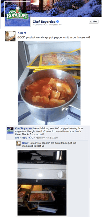 chef boyardee,facebook