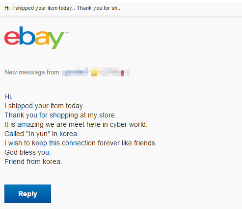 korea,overly attached,ebay