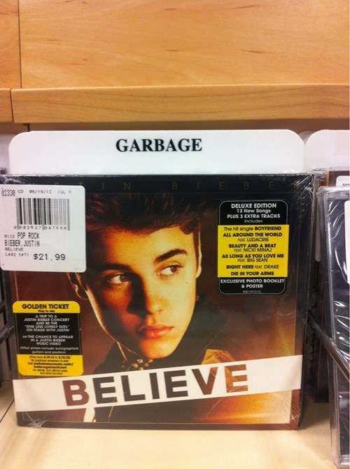 Music,garbage,justin bieber