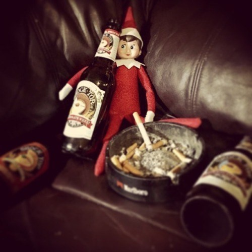 beer christams couch elves funny - 8394886144