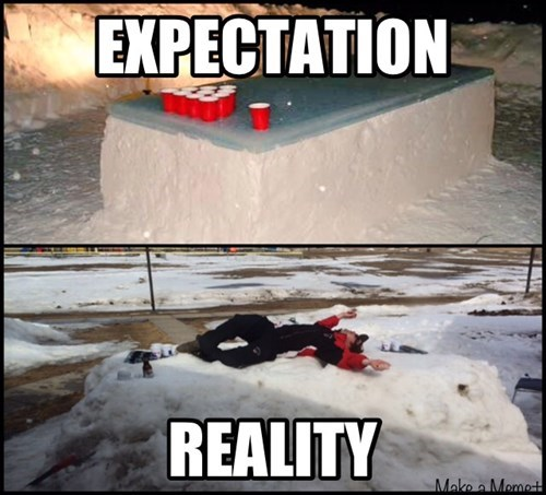 drunk expectations vs reality beer pong funny - 8394950400