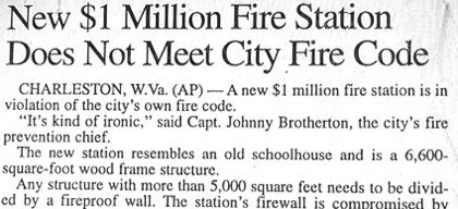 firefighters headline irony newspaper fail nation g rated - 8395013632