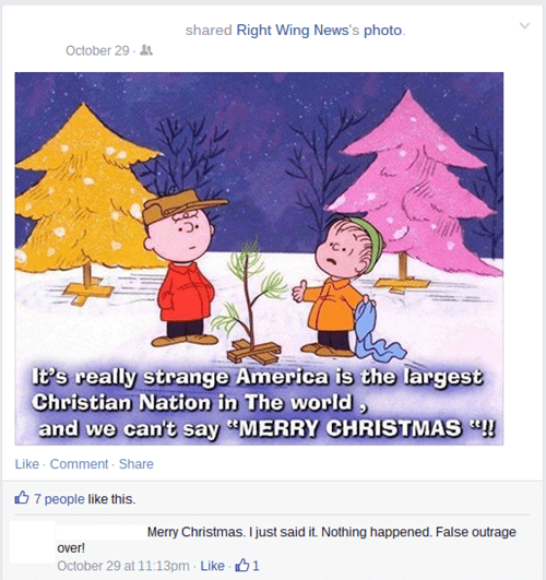 christmas PC politics failbook h rated - 8395044096
