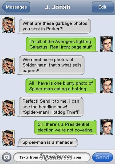 front page J Jonah Jameson Spider-Man obsessed - 8395409664