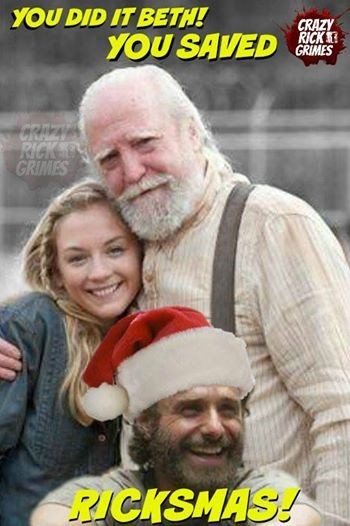 christmas,beth greene,santa claus,hershel greene