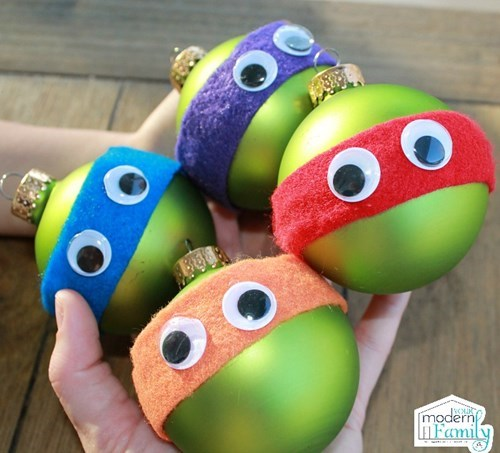christmas TMNT ornaments crafts - 8395440896