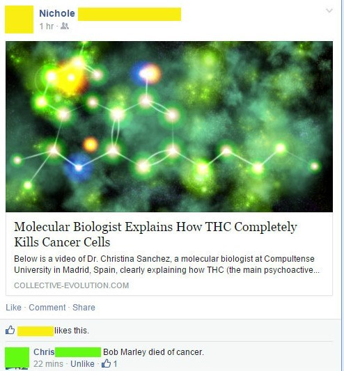 bob marley marijuana cancer science failbook - 8395457792