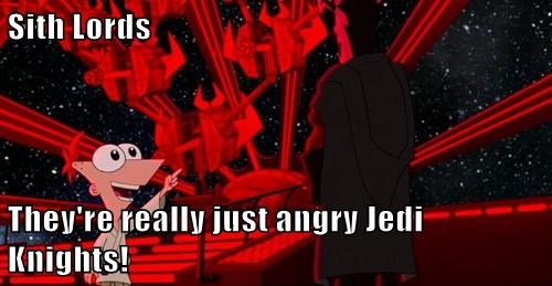 Sith Lords  They're really just angry Jedi Knights!