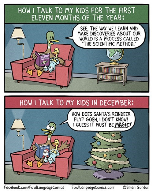 christmas parenting science holidays web comics magic - 8395682816
