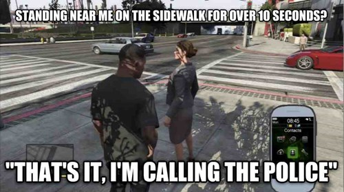 grand theft auto v,video games,video game logic,police