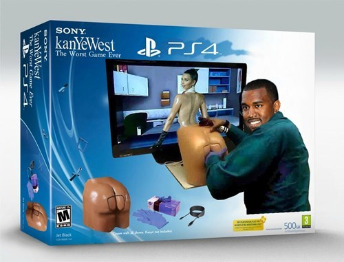PlayStation 4,kim kardashian,kanye west,booty