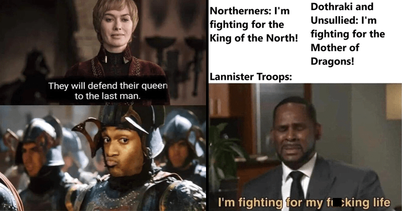 Funny memes about game of thrones, game of thrones season 8 episode 5.