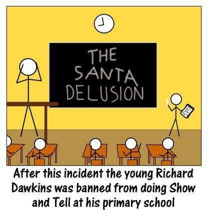 christmas funny richard dawkins santa - 8396474880