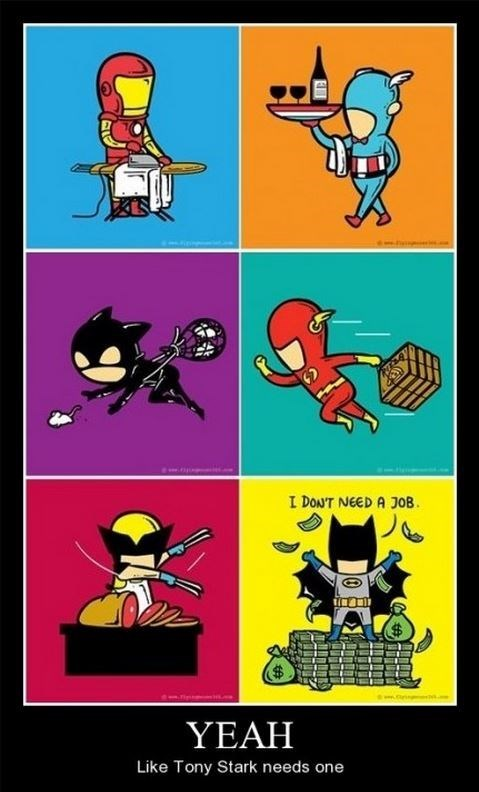 batman funny iron man superheroes wolverine - 8396500992