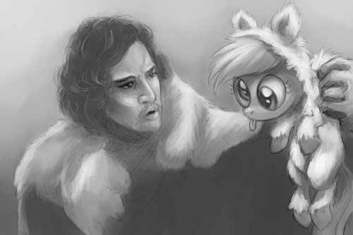 direwolf my little pony derpy Jon Snow - 8396508928