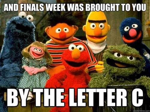 finals grades Sesame Street funny - 8396798976