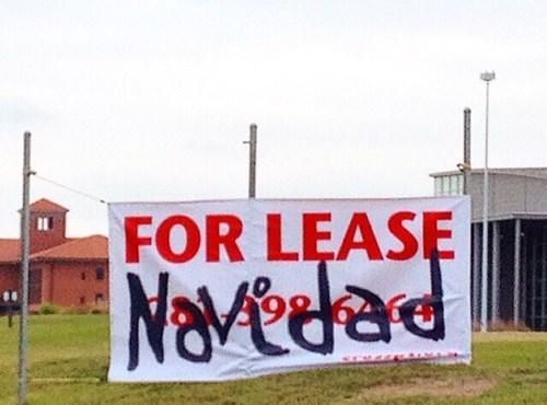 christmas feliz navidad business signs for lease Xmas - 8396814592