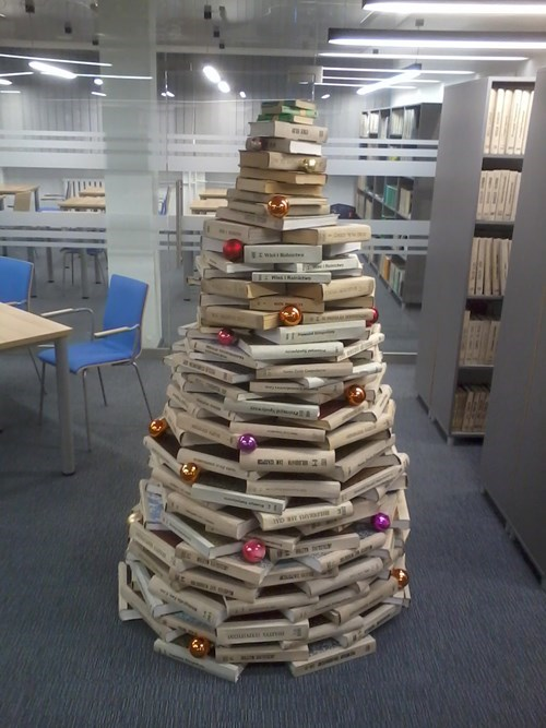 christmas librarians libraries christmas trees - 8396865024