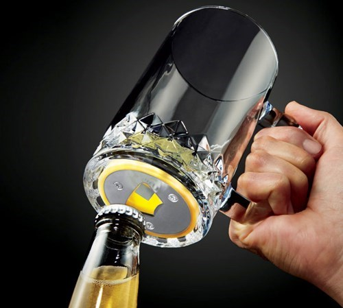 beer bottle opener glasses funny mug - 8396938496