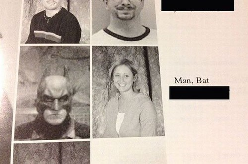yearbook,high school,batman