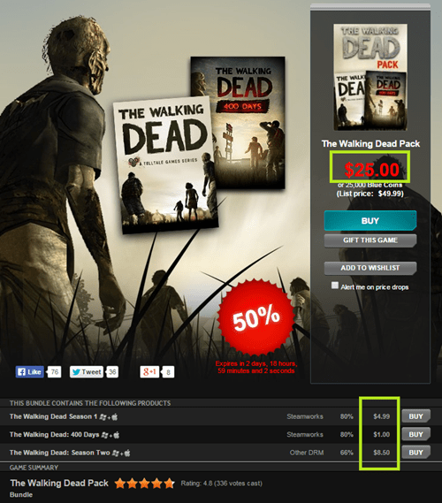 steam sales video games The Walking Dead