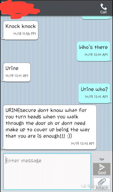 knock knock jokes,texting