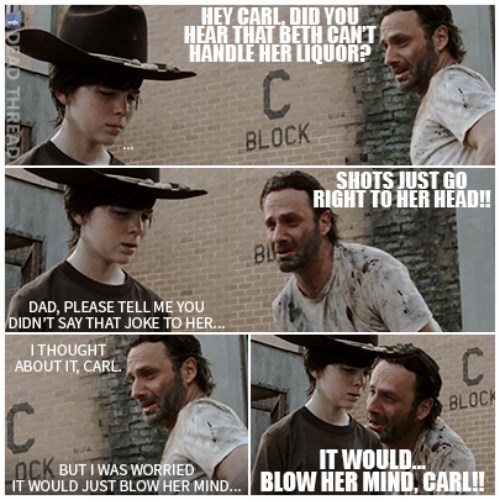 Walking Dad Jokes Rick Grimes beth greene - 8396980992