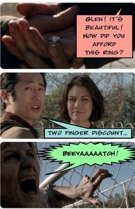 wedding ring,otp,Maggie Greene,Glenn Rhee