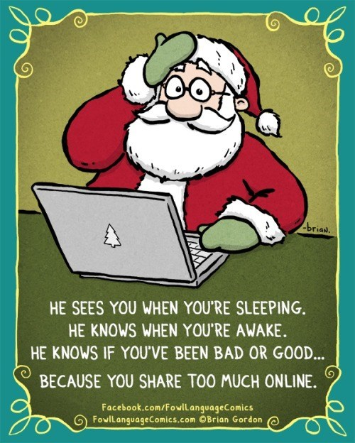 christmas,comics,facebook,santa claus,web comics