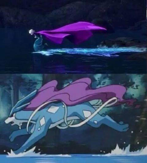 suicune crossover Pokémon disney elsa frozen - 8397044224