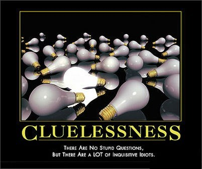 clueless idiots questions stupid - 8397060096
