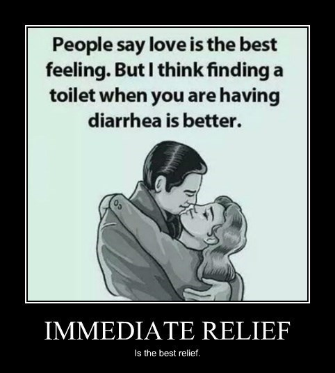 diarrhea relief love funny