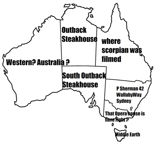 school australia geography Maps