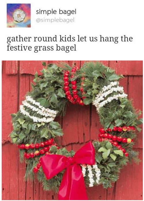 christmas twitter bagel wreath failbook g rated - 8397179392