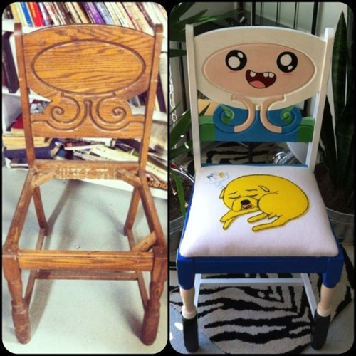 chair,design,DIY,adventure time